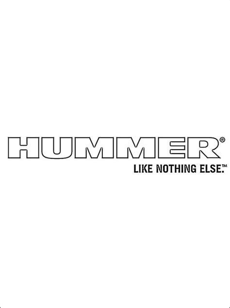 hummer logo coloring page coloring pages