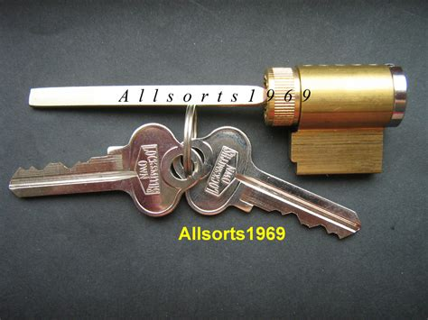 Sliding Glass Door Lock Key Cylinder Solid Brass With 2