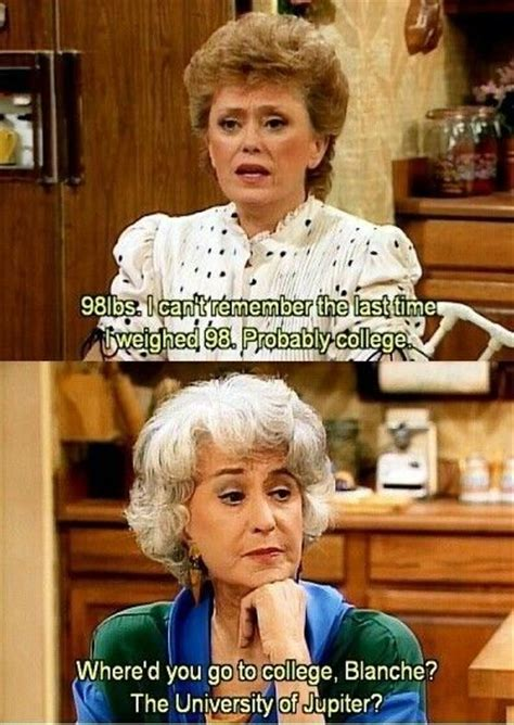 Golden Girls Memes - when dorothy was having none of blanche s nonsense golden girls savage and girls