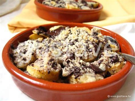 crumble aux bananes et au chocolat la recette gustave