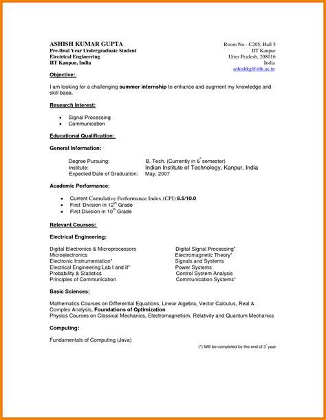 undergraduate student resume template simple resume template