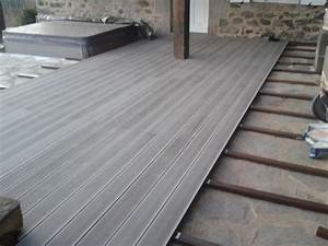 ma terrasse avec une finition en lame de terrasse composite With lame composite pour terrasse