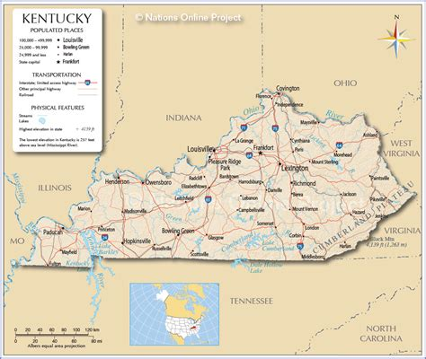 kentucky counties map printable  travel information