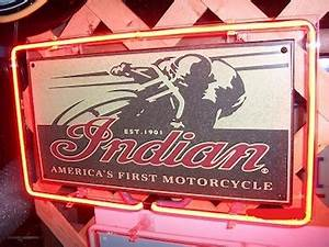 Motorcycle Indian Metal Neon Sign