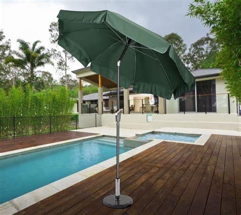 norfolk 2 7m garden parasol with valance and tilt green