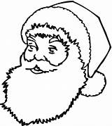 Santa Claus Coloring Pages Face Printable Template Beard Colouring Drawing Templates Outline Clipart Crafts Christmas Workshop Clause Shapes Clipartmag Sleigh sketch template