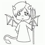 Coloring Halloween Devil Pitchfork Pages Engeltje Print Check Books Categories Similar sketch template