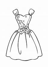 Coloring Pages Barbie Printable Princess Gown sketch template