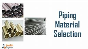 Pipe Material Types And Selection