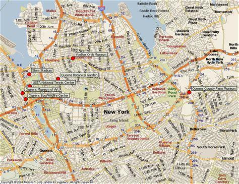 queens  york map