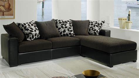 canape d angle tissu pas cher canapé d 39 angle tissu noir pas cher