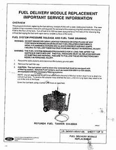 Returnless Fuel Pump Installation Instructions