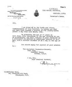 Retirement Pension Award Letter Example