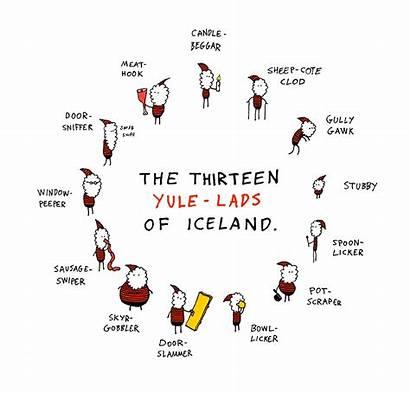 Yule Lads Iceland Santas Dagsson Days Hugleikur