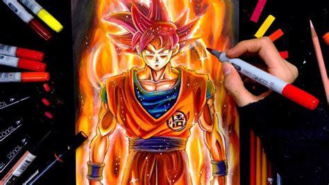 Como Desenhar Goku Super Saiyan Deus Passo a Passo