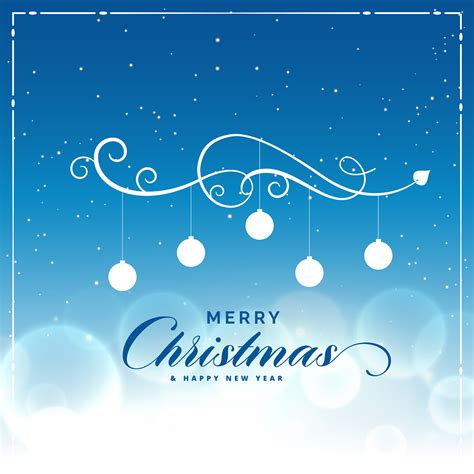 merry christmas beautiful blue background with light effect download free vector art stock