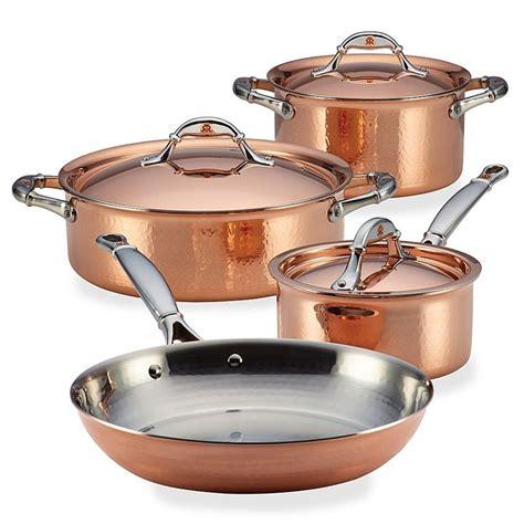 ruffoni symphonia cupra  piece copper cookware set copper cookware set copper homewares
