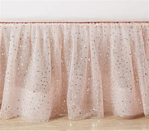 pottery barn bed skirts the emily meritt sparkle tulle bed skirt pottery barn