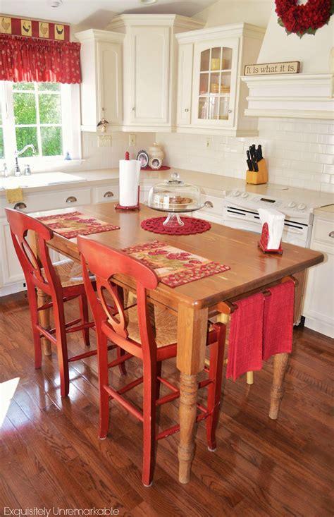 turn  kitchen table   farmhouse island
