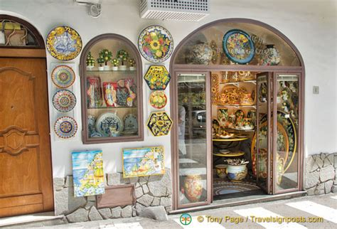 hometown abroad ceramic shop positano italy le ceramiche di maria grazia a pottery shop on via pasitea
