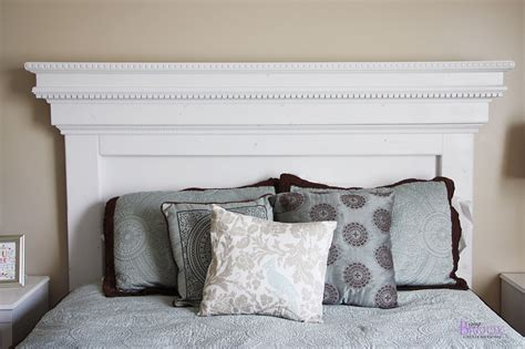 Diy Size Headboard by White Build A Mantel Moulding Headboard Free And
