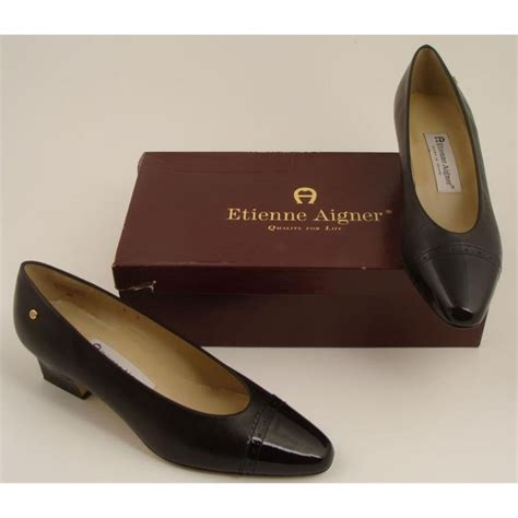aigner a leather etienne aigner black leather shoes spain 8m