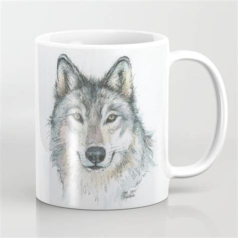 Wolf coffee selects only the highest quality arabica beans. Wolf Coffee Mug by olechka   Society6