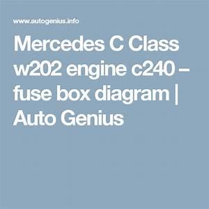 Mercedes C Class W202 Engine C240