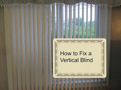 how to fix vertical blinds vickie s kitchen and garden diy how to fix a vertical blind