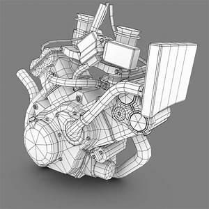 Engine Dorsoduro Supermoto 3d Model