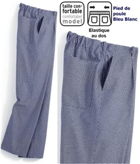 pantalon pied de poule cuisine pantalon de cuisine pantalon boulanger homme biomidi