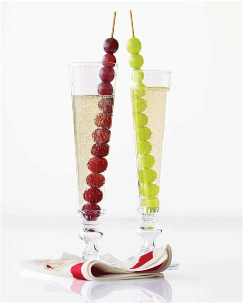 New Years Champagne With Grapes Martha Stewart