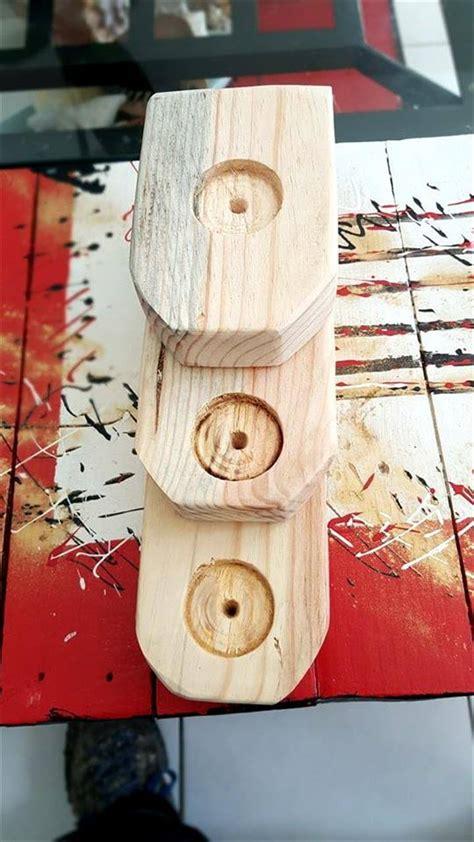 candela unit pallet wood candle holder unit
