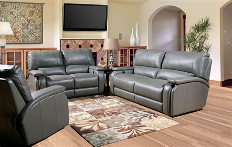 Reclining Living Room Sets : Grisham Heron Dual Power Reclining Living Room Set From