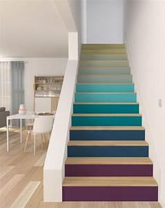 escalier peinture contremarche vi58 jornalagora With nuance de couleur peinture 9 peindre un escalier 5 idees qui vont vous inspirer