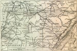 Tennessee Civil War Battles Map