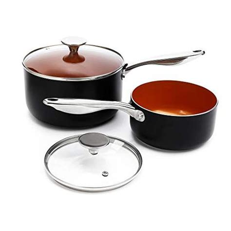 michelangelo copper cookware set  piece  nonstick