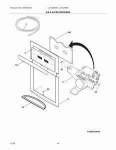 Ice  U0026 Water Dispenser Diagram  U0026 Parts List For Model Lghs2665kf1 Frigidaire