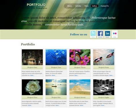 portfolio templates design csshtml ginva