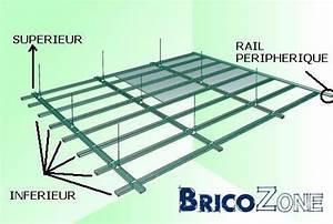 Rail Faux Plafond : rail faux plafond maison travaux ~ Mglfilm.com Idées de Décoration