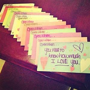 Cute little love notes for him
