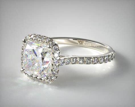 Pave Set Engagement Ring (cushion Center)