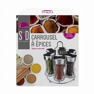 Carrousel à épices : pr sentoir pices 6 pots en verre ~ Teatrodelosmanantiales.com Idées de Décoration