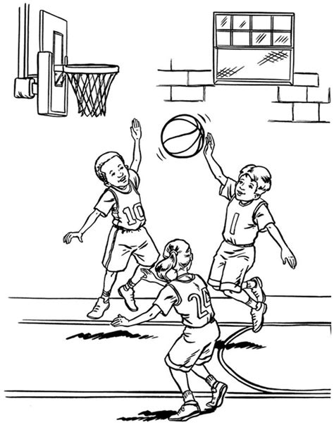 basketball coloring book pages coloring home