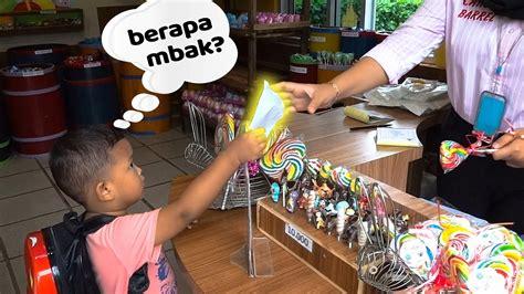 wisata edukasi anak belajar membeli permen sendiri youtube