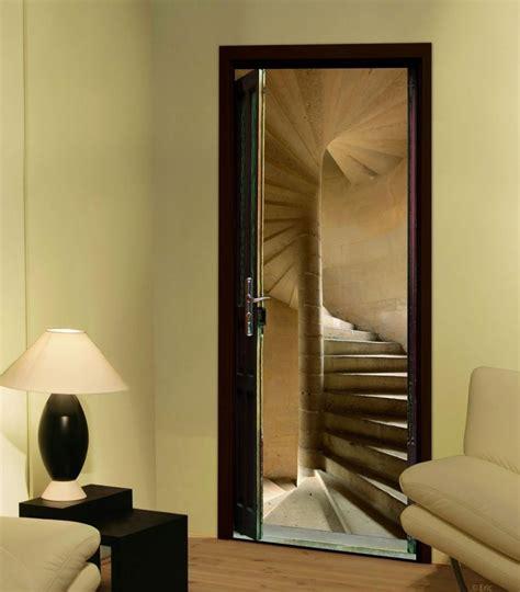 trompe l oeil pour porte sticker de porte trompe l oeil quot escalier 224 vis quot avenue