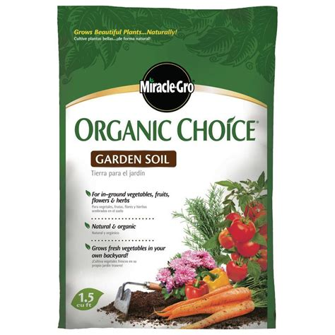 miracle gro 1 5 cu ft organic choice garden soil
