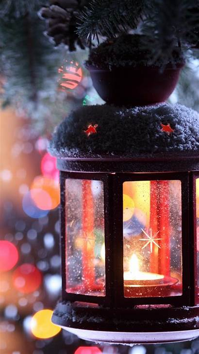 Christmas Candle Snow Winter Torch Branch Snowflakes