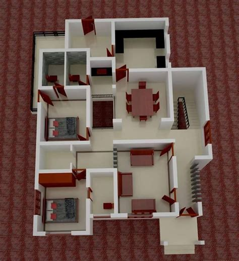 small homes floor plans low budget kerala home design with 3d plan home pictures