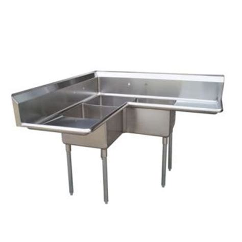 three compartment kitchen sink turbo air tsa 3c d1 corner type three compartment sink 6107